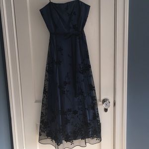 Blueblack Papell Boutique strapless cocktail dress